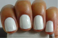 French Manicure- 3 coats (Streaky)