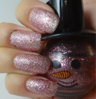 Super fine pink glitter with hot pink glitter