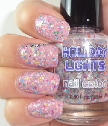 light pink mulit-glitter