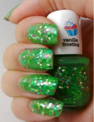 bright green-multi colored glitter