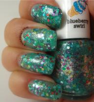green/blue glitter
