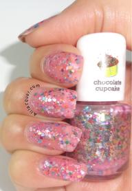 Ornaments- Light pink glitter swatch